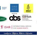 """10 องค์กรสิทธิมนุษยชนต่างประเทศเรียกร้องให้ยุติการดำเนินคดีกับ """"นางสาวศิริกาญจน์ เจริญศิริ"""" โดยทันที"""